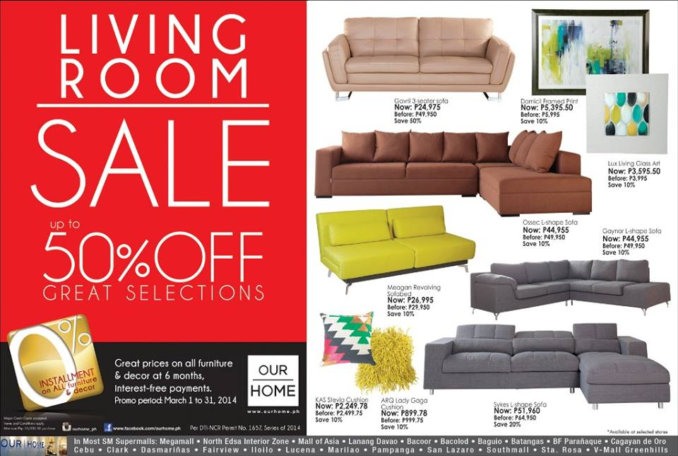 Our home living room sale march 2014 manila on sale Our home furniture prices philippines