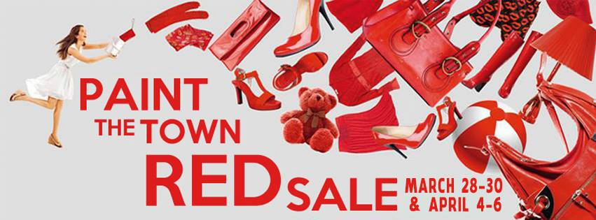 Paint The Town Red Sale March 2014