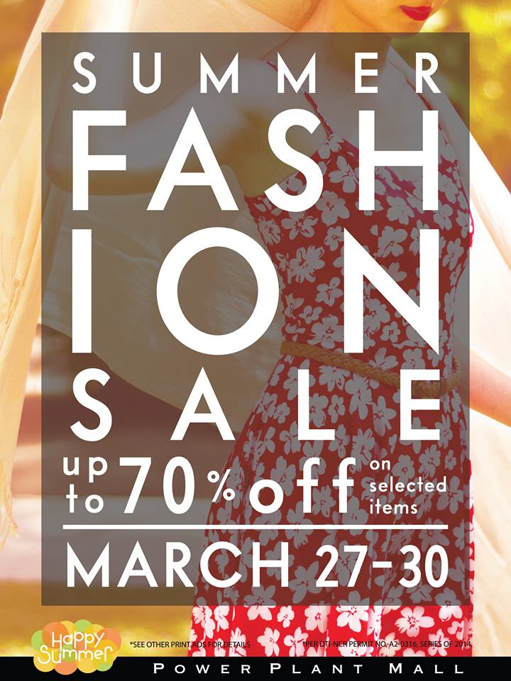 Power Plant Mall Summer Fashion Sale March 2014