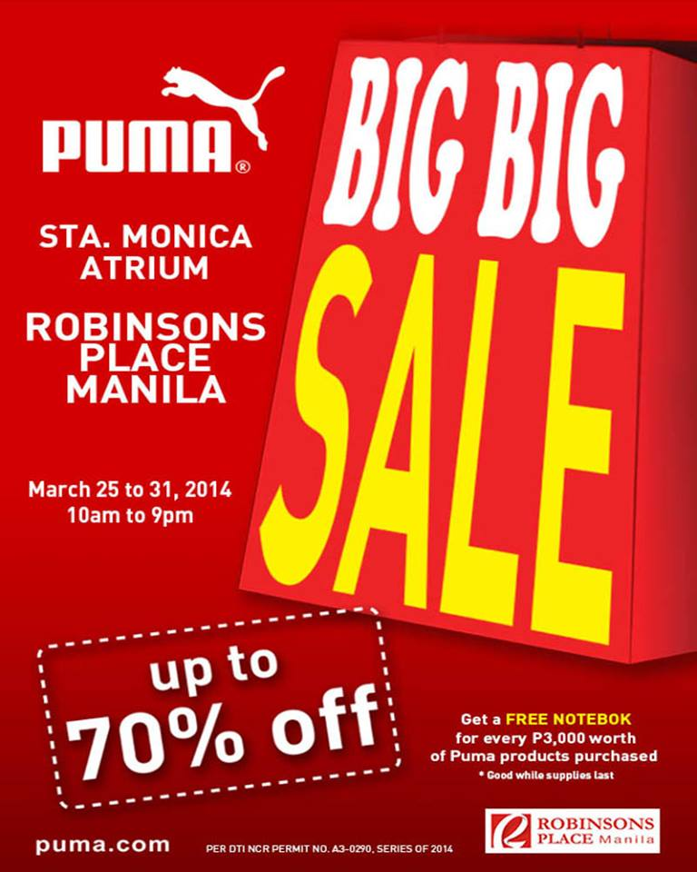 Puma Big Big Sale @ Robinsons Manila March 2014