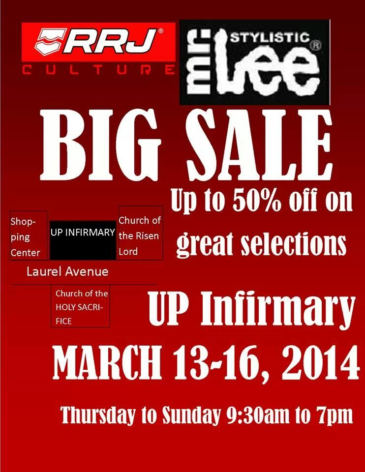 RRJ & Mr. Lee Big Sale @ UP Infirmary, UP Diliman March 2014