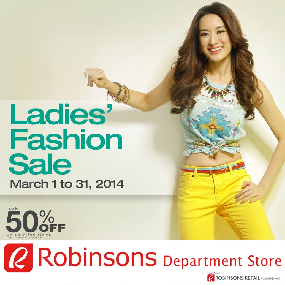 Robinsons Department Store Ladies Fashion Sale March 2014