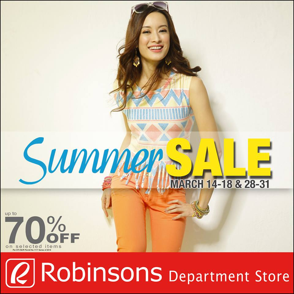 Robinsons Department Store Summer Sale March 2014