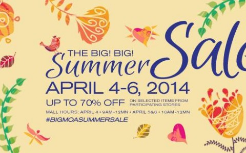 SM Mall of Asia Big Big Summer Sale April 2014