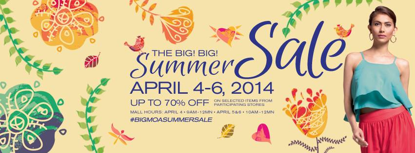 SM Mall of Asia Big Big Summer Sale April 2014
