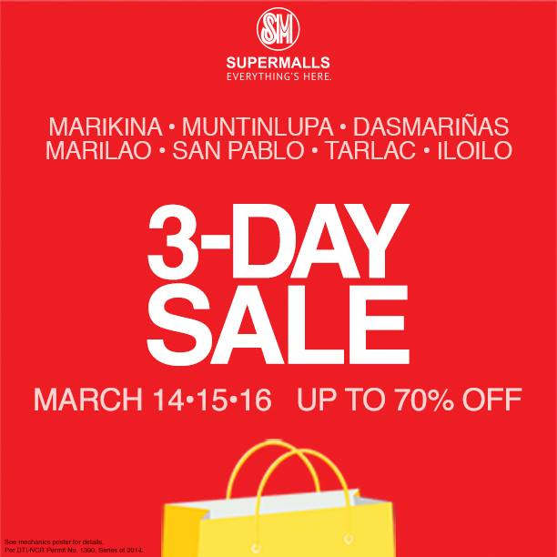 SM Supermalls 3-Day Sale March 2014