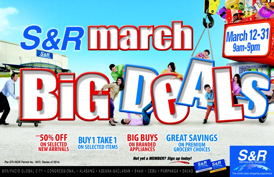 S&R March Big Deals March 2014
