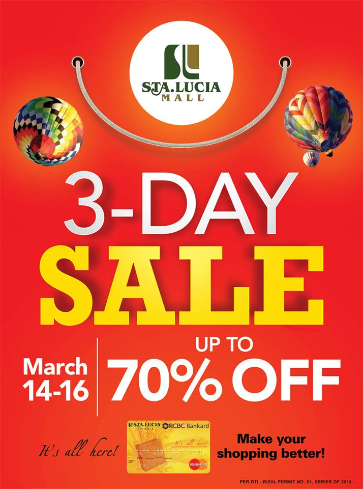 Sta. Lucia Mall 3-Day Sale March 2014