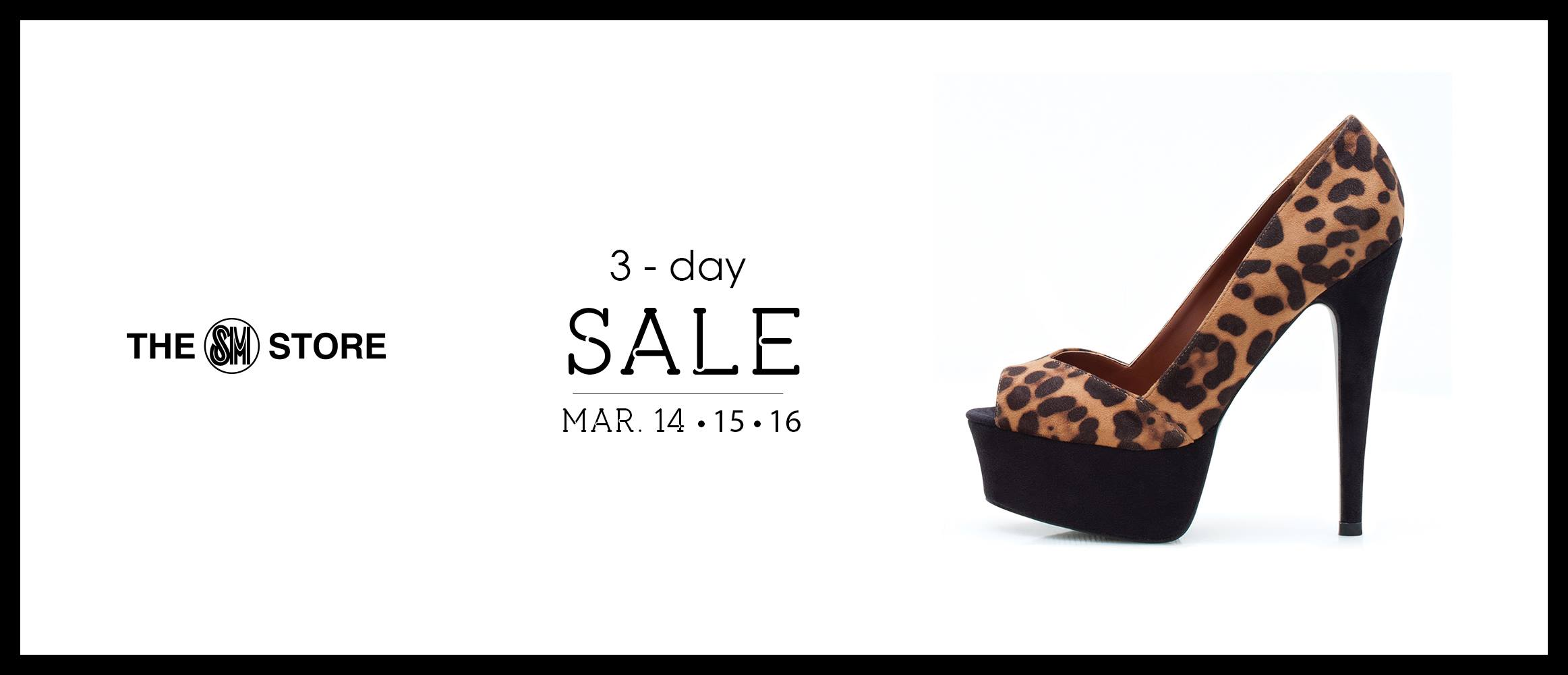 The SM Store 3-Day Sale March 2014
