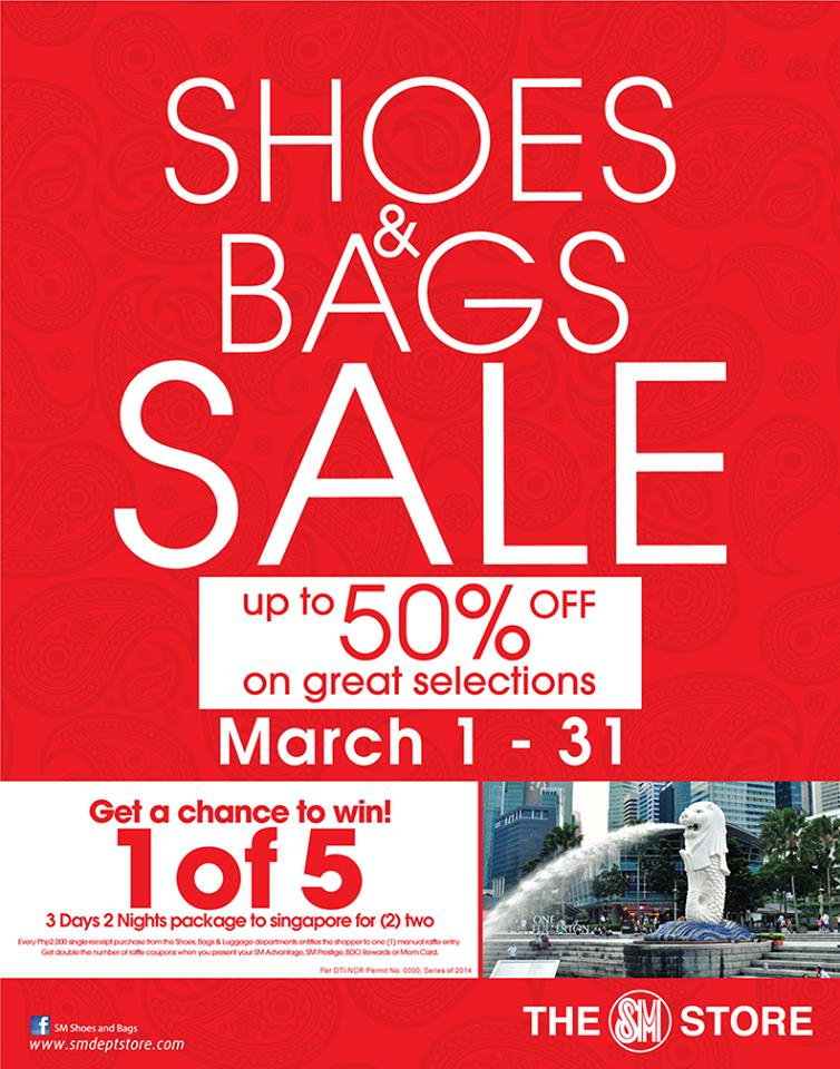 The SM Store Shoes & Bags Sale March 2014