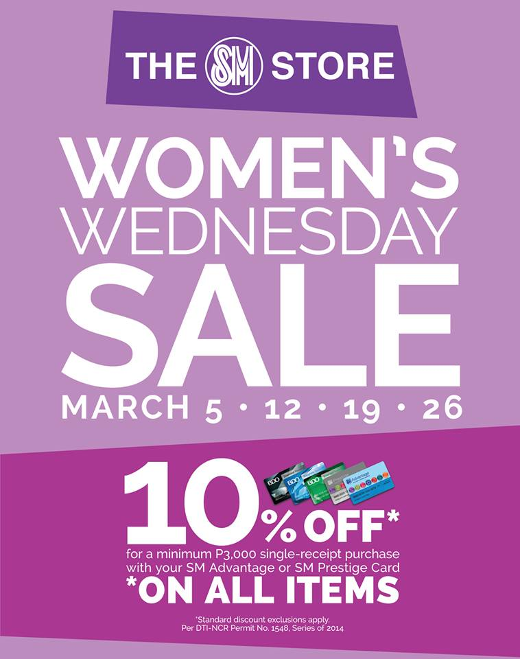 The SM Store Women's Wednesday Sale March 2014