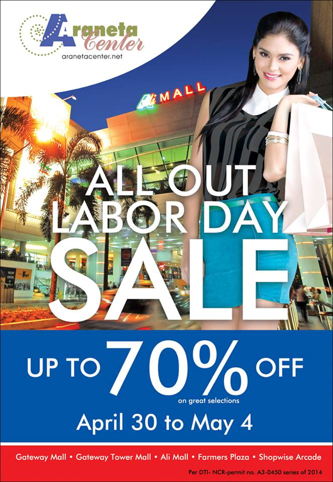 Araneta Center Labor Day Sale May 2014