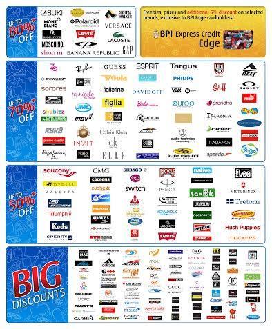 BPI Big Summer Outlet Sale 2014 Participating Brands