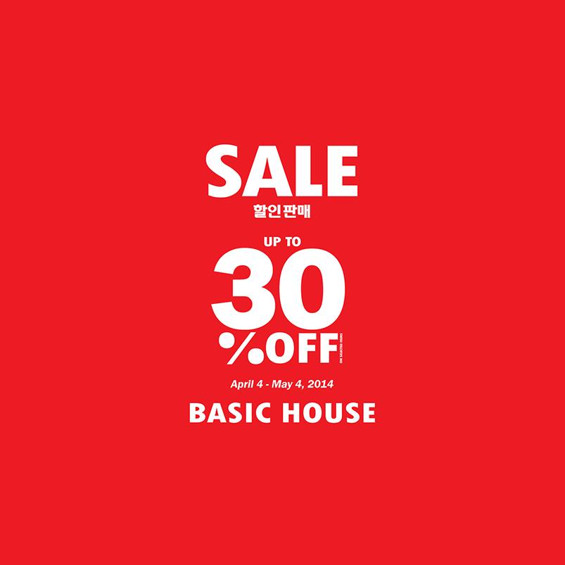 Basic House Mid Season Sale April - May 2014