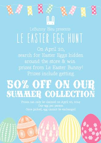 Le Bunny Bleu Le Easter Egg Hunt April 2014