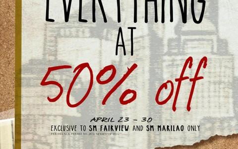 Memo Everything at 50% Off Promo @ SM Fairview & SM Marilao April 2014