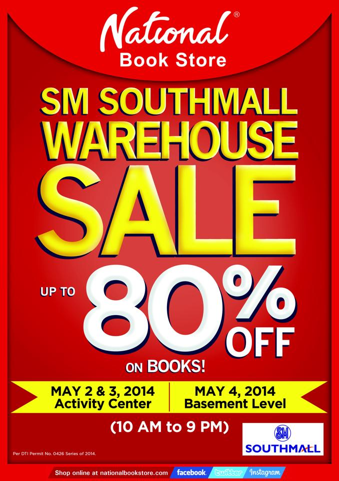 National Book Store Warehouse Sale @ SM Southmall May 2014