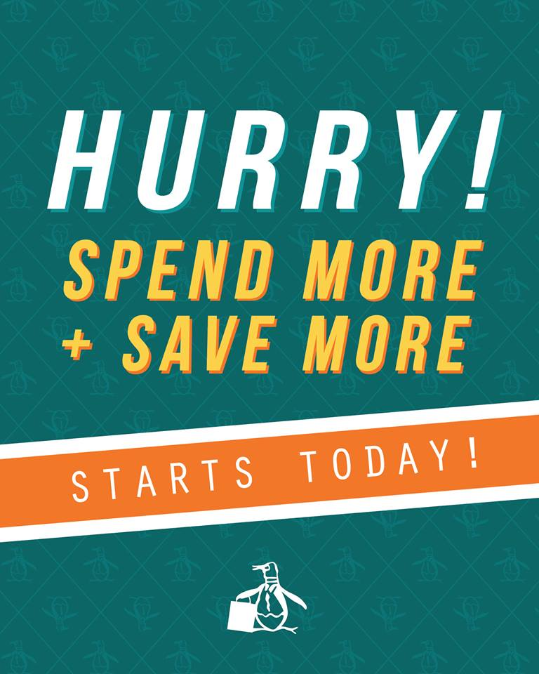 Original Penguin Spend More + Save More Promo April - May 2014