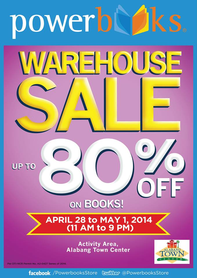 Powerbooks Warehouse Sale @ Alabang Town Center April - May 2014