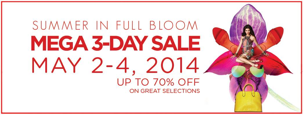 SM Megamall Mega 3-Day Sale May 2014
