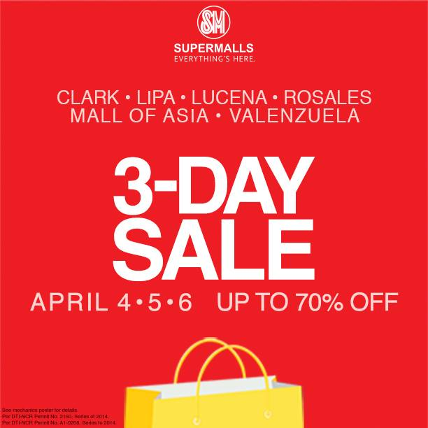 SM Supermalls 3-Day Sale April 2014