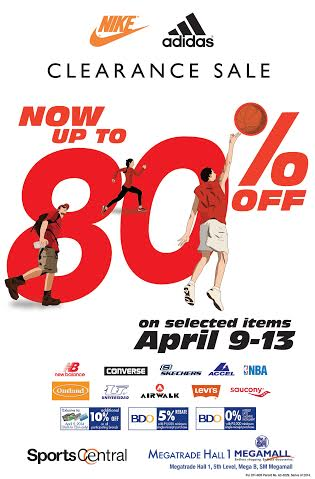 Sports Central Nike & Adidas Clearance Sale @ SM Megatrade Hall April 2014