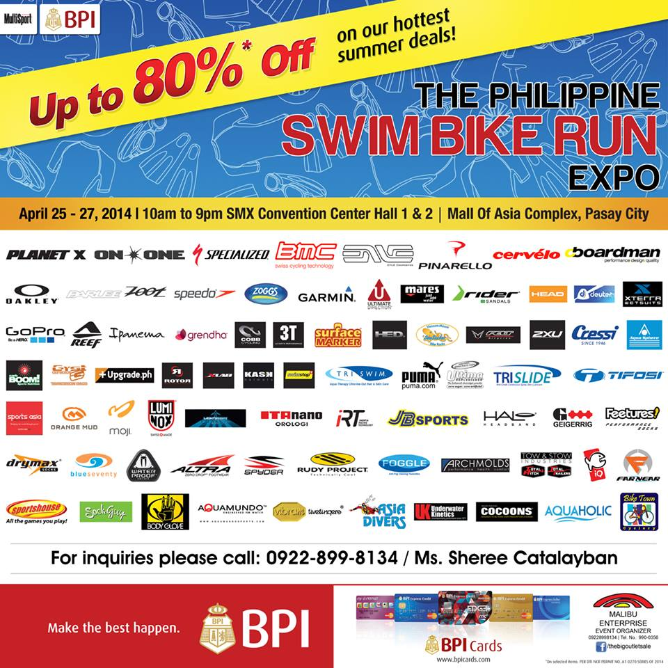 The Philippine Swim Bike Run Sale Expo @ SMX Convention Center April 2014