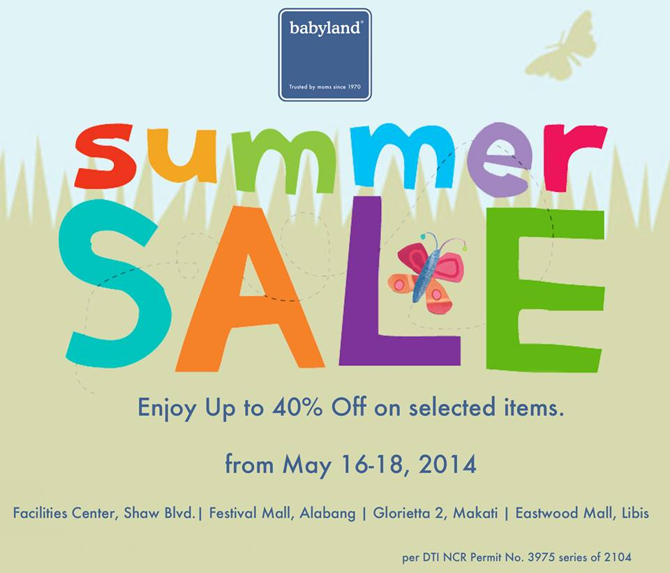 Babyland Summer Sale May 2014