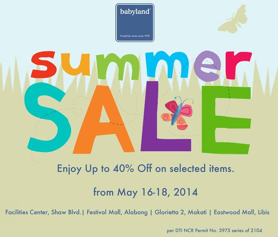 Babyland Summer Sale May 2014