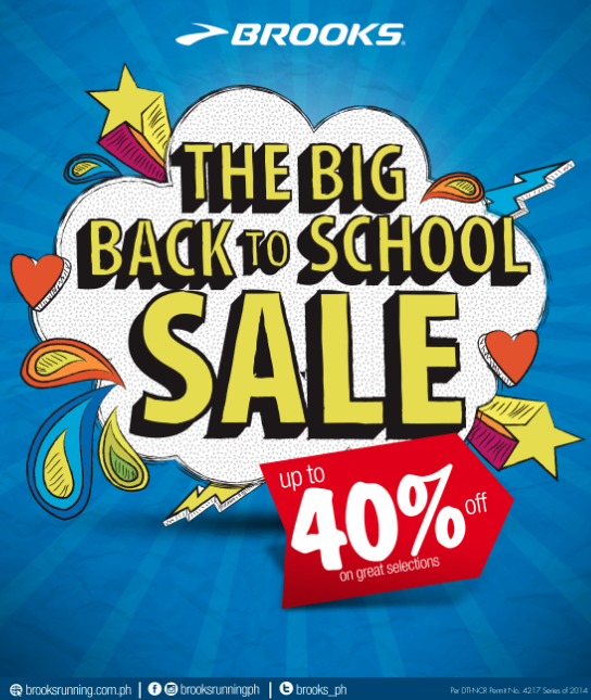 Brooks The Big Back to School Sale May - June 2014