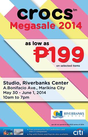 Crocs Megasale @ Studio, Riverbanks Center May - June 2014