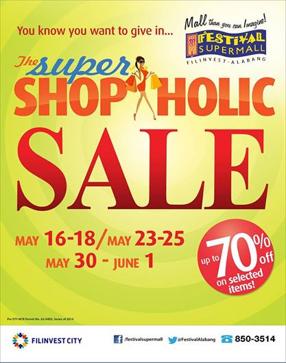 Festival Supermall Super Shopaholic Sale May - June 2014