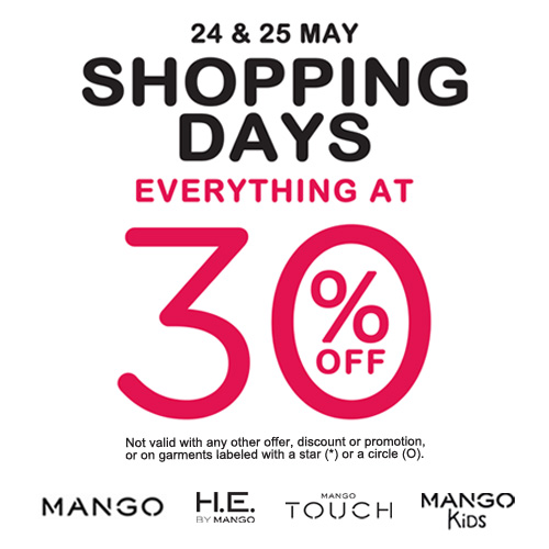 Mango Shopping Days Sale May 2014