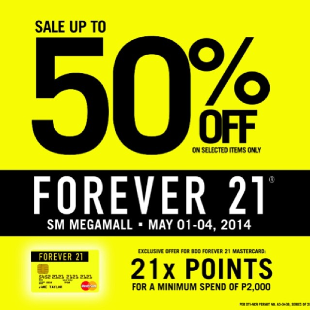 Forever 21 Sale @ SM Megamall May 2014
