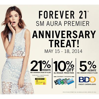 Forever 21 Anniversary Treat @ SM Aura Premier May 2014