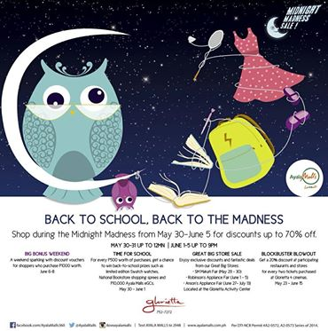 Glorietta Midnight Madness Sale May - June 2014