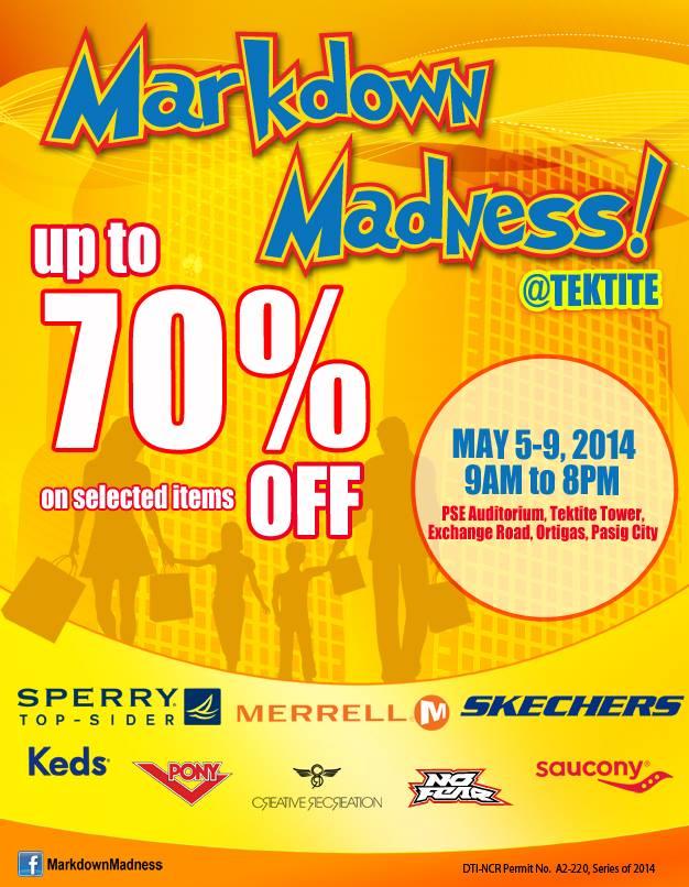Markdown Madness @ Tektite May 2014