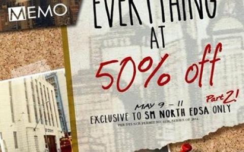 Memo Everything at 50 Off Promo @ SM City North Edsa May 2014