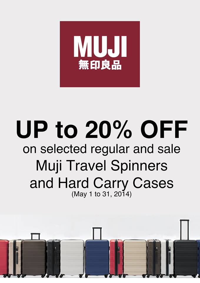 Muji Luggage Sale May 2014
