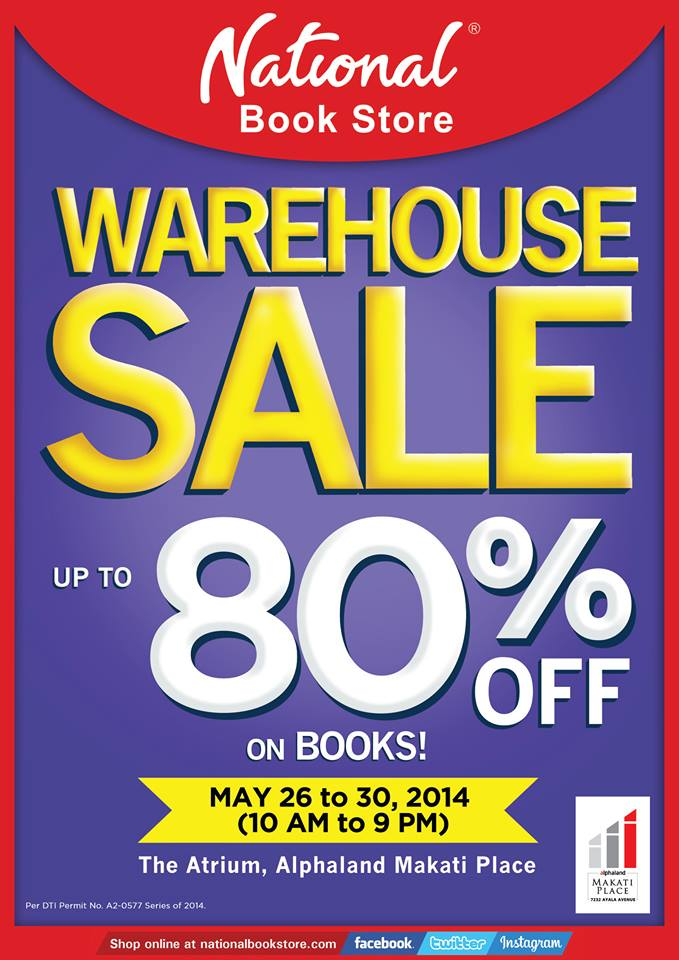 National Book Store Warehouse Sale @ The Atrium Alphaland Makati May 2014
