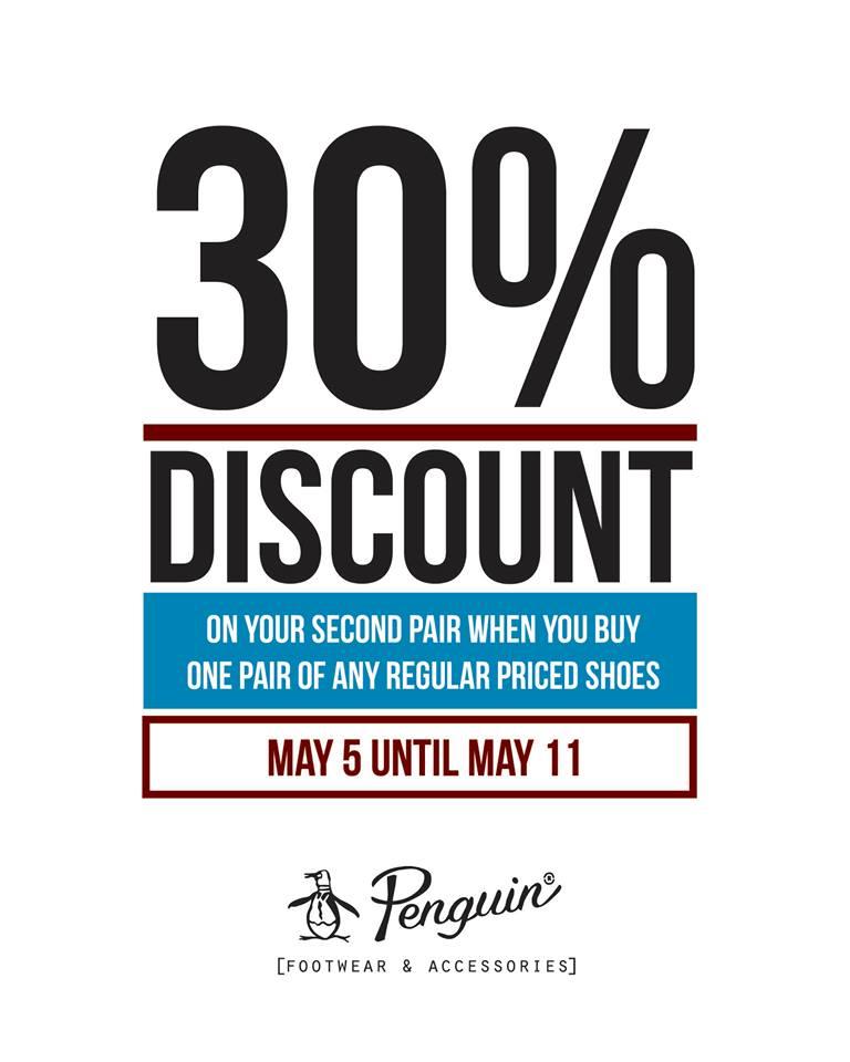 Original Penguin Buy 1 Get 30 Off on footwear promo May - June 2014