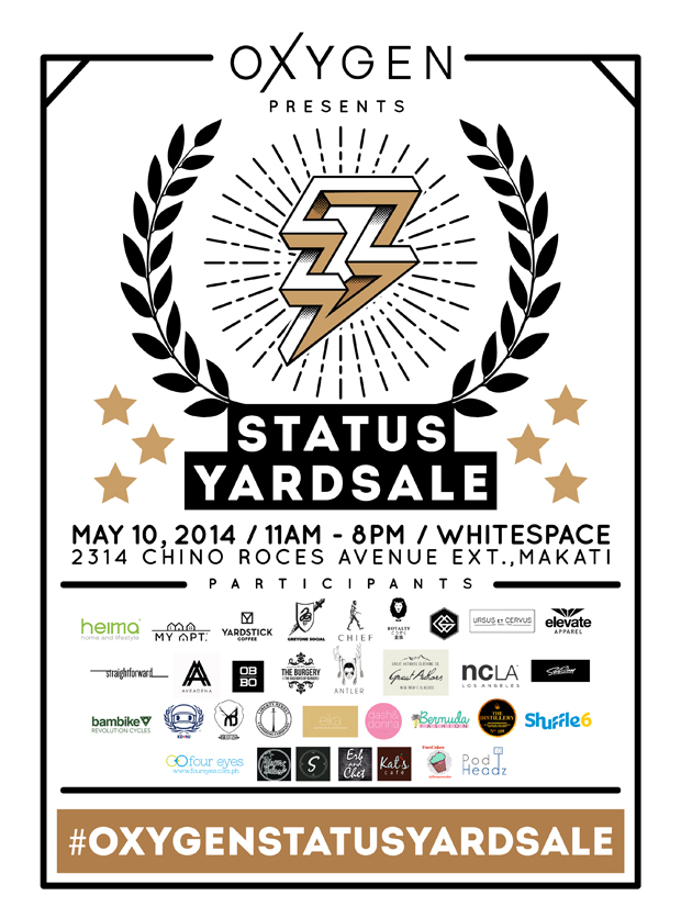 Oxygen's Status Yard Sale @ Whitespace May 2014