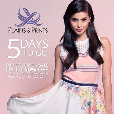 Plains & Prints End of Season Sale May - June 2014