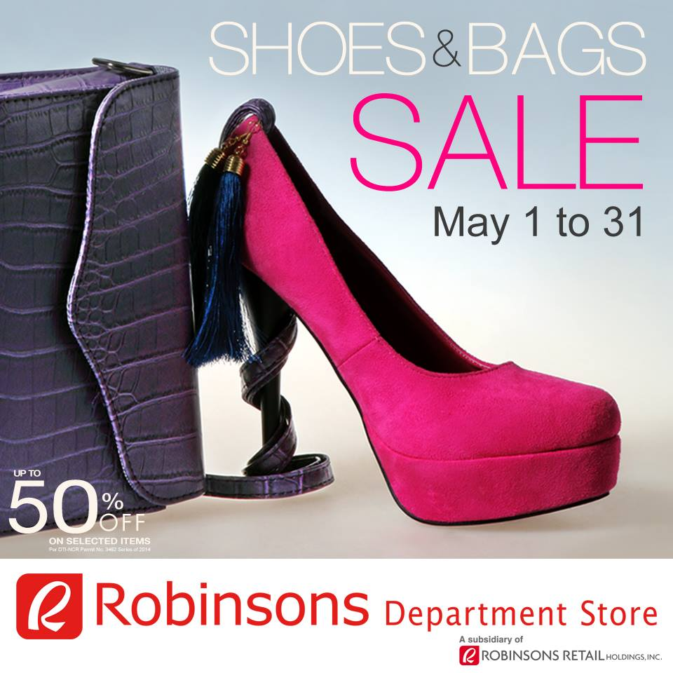 Robinsons Department Store Shoes & Bags Sale May 2014