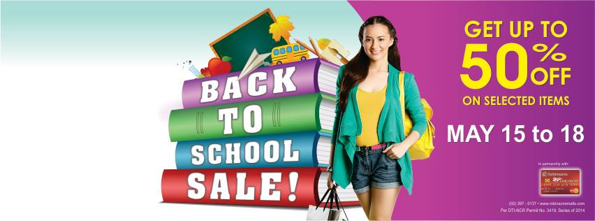 Robinsons Malls Back 2 School Sale May 2014