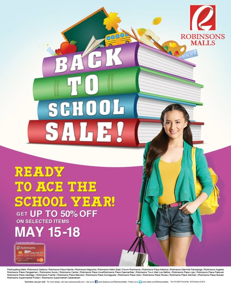 Robinsons Malls Back To School Sale May 2014