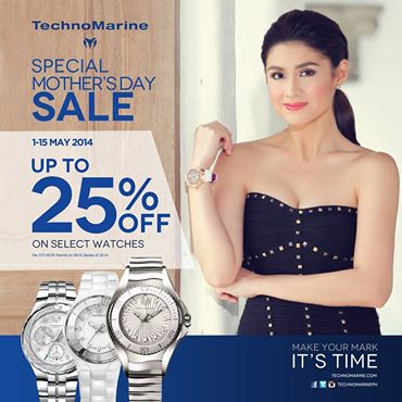 Technomarine Special Mothers Day Sale May 2014