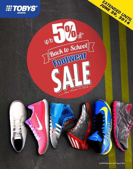 Toby's Sports Back To School Footwear Sale June 2014 (Extended)