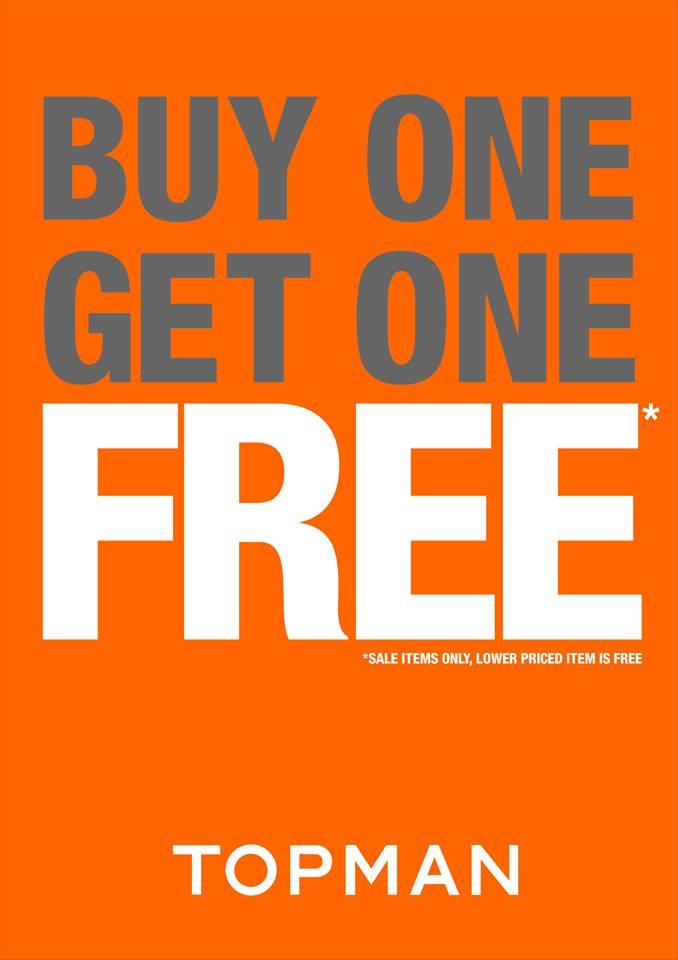 Topman Buy 1 Get 1 Free promo May 2014