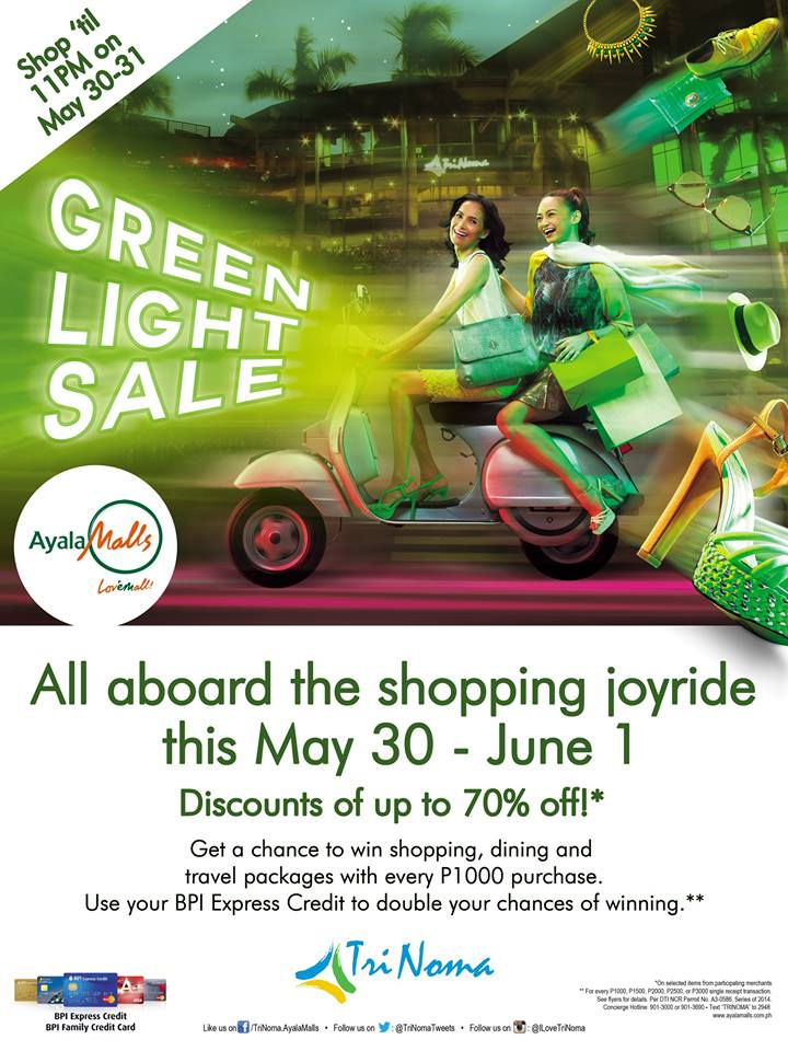 Trinoma Green Light Sale May - June 2014